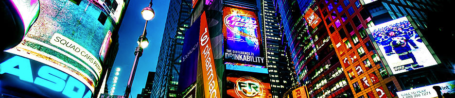 LED screens in Time Square, New York