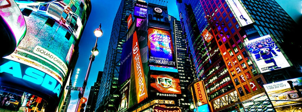 LED Screen in Time Square, New York